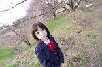 愛ちゃんと春の雰囲気を求めてお散歩